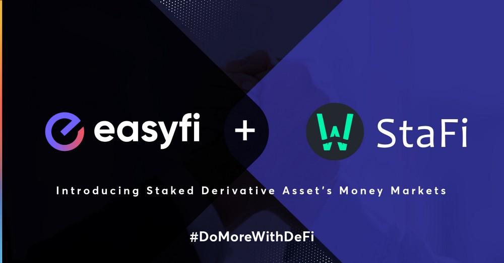 EasyFi ve Stafi Ortakları Layer-2 DeFi'de Stake Edilen Türev Varlıklar Para Piyasası Sunar