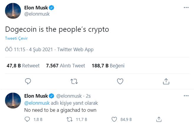 Dogecoin Elon Musk, Dogecoin Elon Musk Etkisini Yaşıyor!