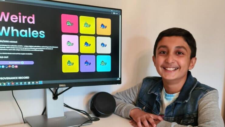 12 Yaşındaki Benyamin Ahmed 5 Milyon Dolarlık NFT Ekibinde Yer Aldı